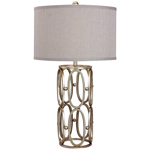 Steiner Champagne Gold Open Metal Work Table Lamp