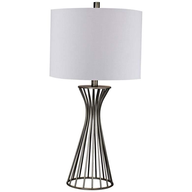 Webster Champagne Gold Modern Metal Table Lamp