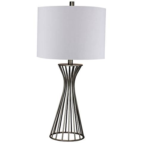 Webster Champagne Gold Metal Table Lamp