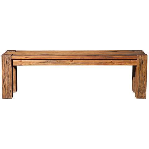 Shasta Salvaged Natural Rectangular Dining Bench