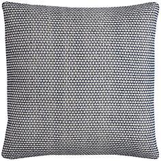 """Renae Textured Woven Indigo 22"""" Square Throw Pillow"""