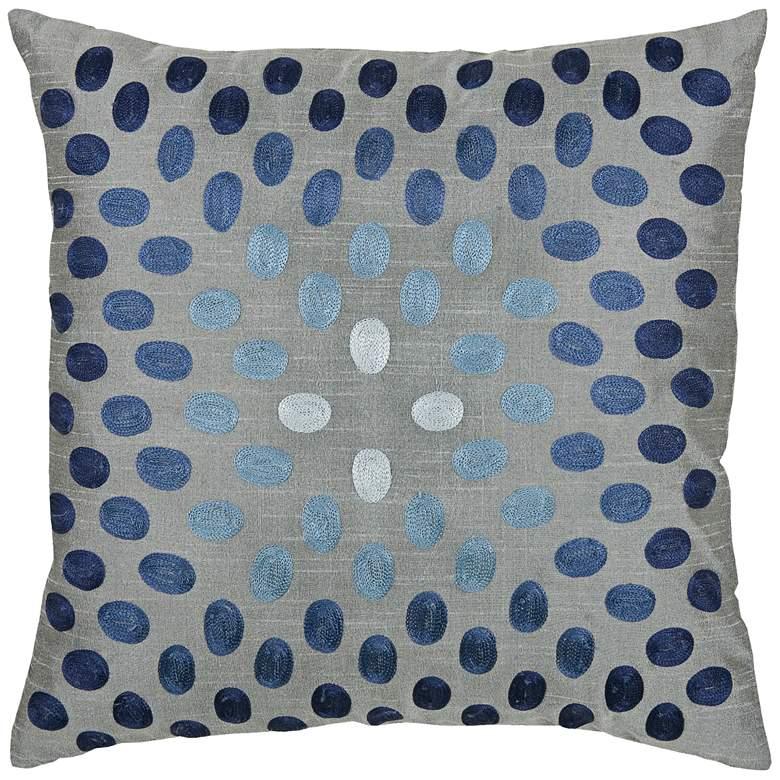 "Lyana Blue Dots 18"" Square Throw Pillow"