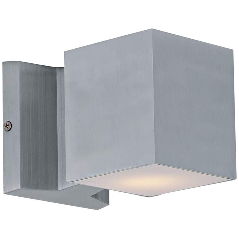 "Maxim Lightray 4""H Square Aluminum LED Outdoor Wall Light"
