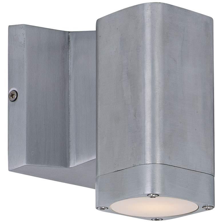 "Lightray 5 1/4""H Rectangular Aluminum LED Outdoor Wall Light"