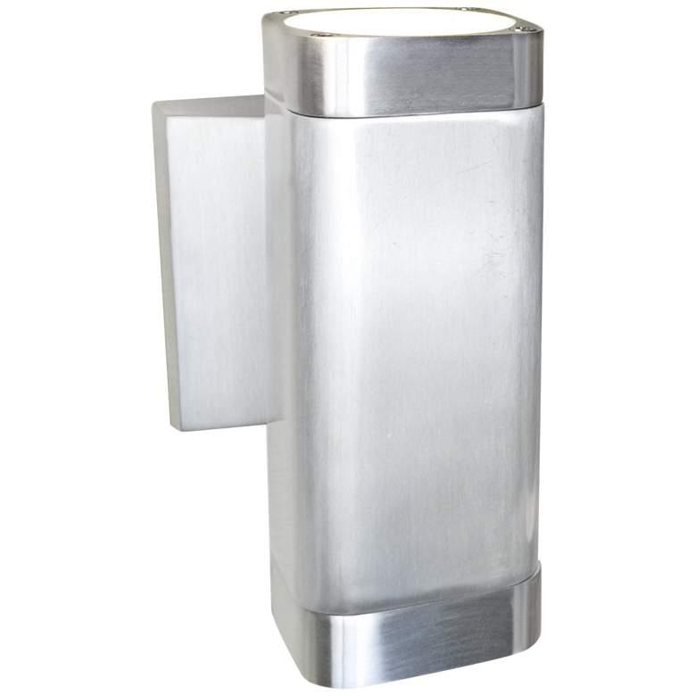 "Lightray 6 1/2""H Rectangular Aluminum LED Outdoor Wall"