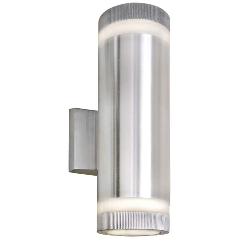 """Lightray 12""""H Cylindrical Aluminum LED Outdoor Wall Light"""