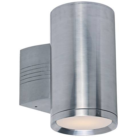 "Lightray 9 1/4""H Cylindrical Aluminum LED Outdoor Wall Light"