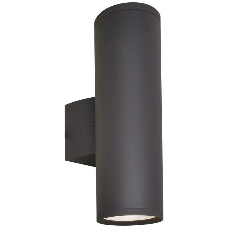 """Lightray 15 3/4""""H Cylindrical Bronze LED Outdoor Wall Light"""