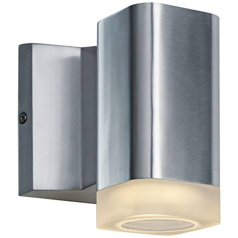 """Lightray 5 1/4"""" High Square Aluminum LED Outdoor Wall Light"""