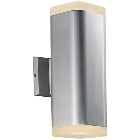 "Maxim Lightray 13""H Square Aluminum LED Outdoor Wall Light"
