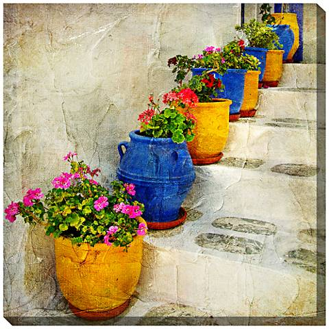"Bright Pots 24"" Square Indoor-Outdoor Giclee Wall Art"