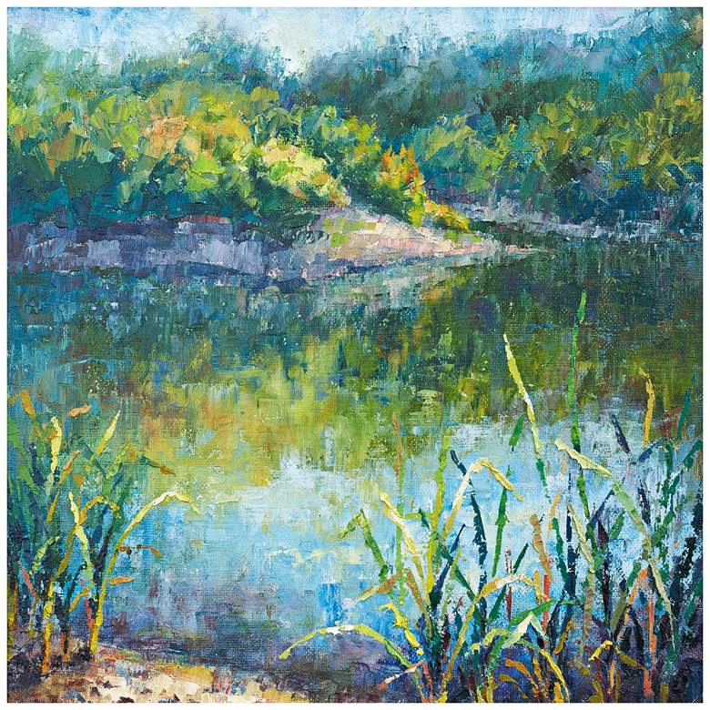 """Daydream In Blue 24"""" Square Indoor-Outdoor Wall Art"""