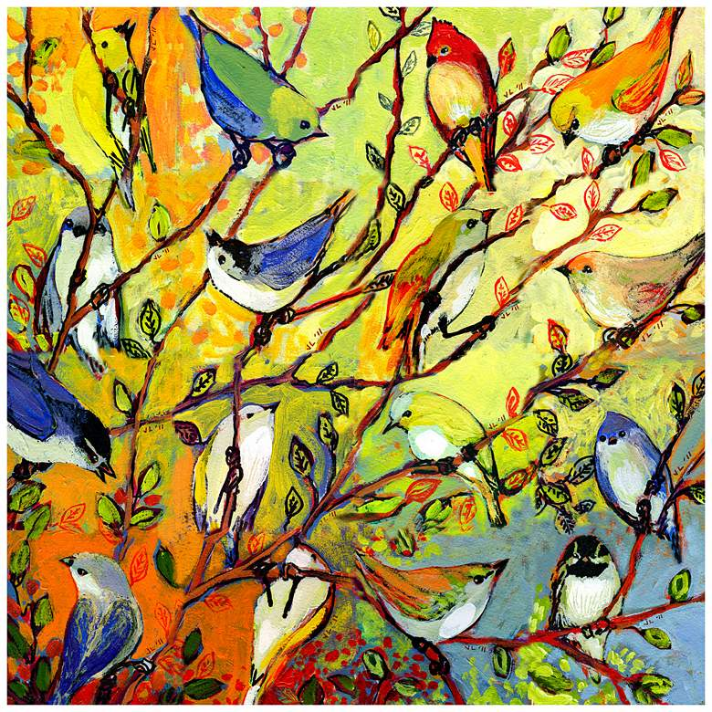 """Birds Of A Feather 24"""" Square Indoor-Outdoor Wall"""