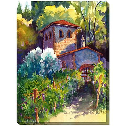 "Vintner's Cottage 40""H All-Weather Indoor-Outdoor Wall Art"