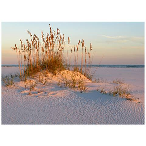 "Sea Oats & Sand 40""W All-Weather Indoor-Outdoor Wall Art"