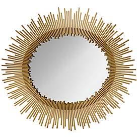 Orwell Gold Leaf 32 X 35 Sunburst Wall Mirror