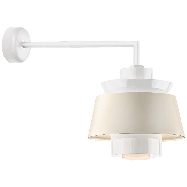 "RLM Aero 15"" High Gloss White LED Outdoor Wall Light"