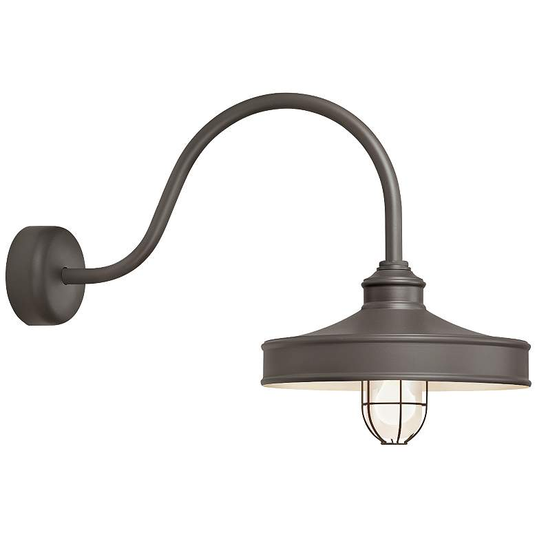 "Nostalgia 18"" High Textured Bronze Outdoor Wall Light"
