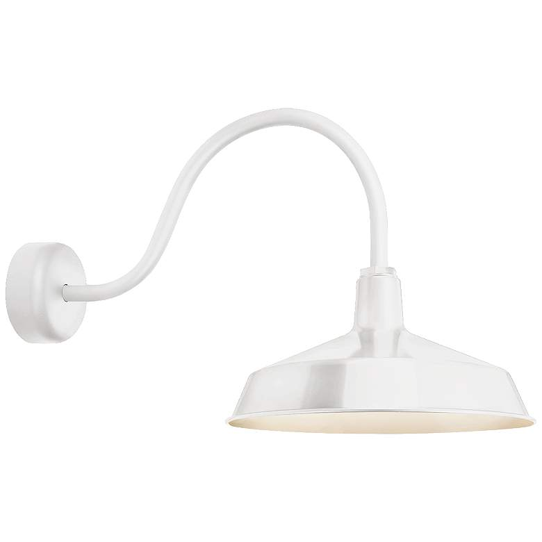 """RLM Standard 19"""" High Outdoor Wall Light in Gloss White"""
