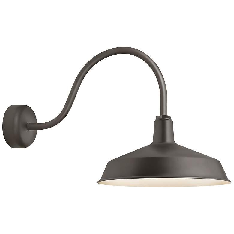 """RLM Standard 19""""H Textured Bronze Outdoor Wall Light"""