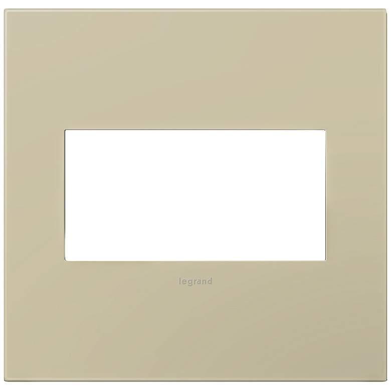 adorne® Ashen Tan 2-Gang Snap-On Wall Plate