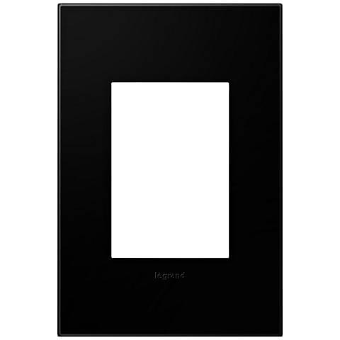 adorne® Black Ink 1-Gang 3-Module Snap-On Wall Plate
