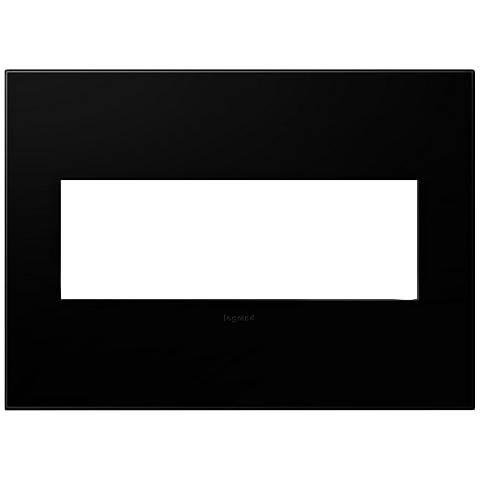 adorne® Black Ink 3-Gang Snap-On Wall Plate