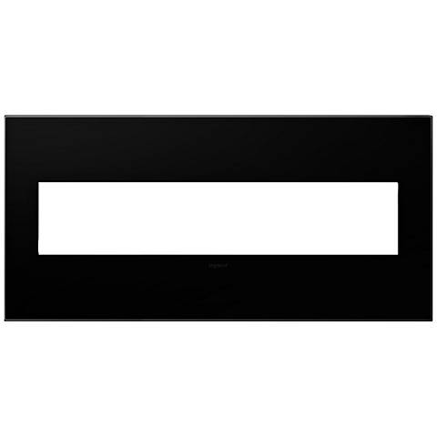 adorne® Black Ink 5-Gang Snap-On Wall Plate