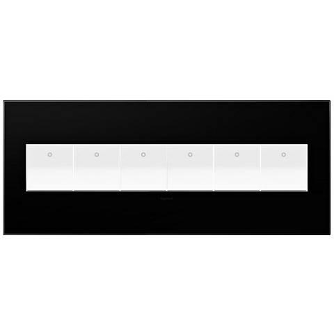 adorne® Black Ink 6-Gang Snap-On Wall Plate