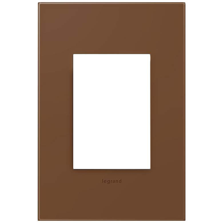 adorne® Cappuccino 1-Gang 3-Module Snap-On Wall Plate