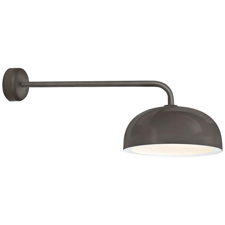 "RLM Dome 12 3/4""H Textured Bronze Outdoor Wall Light"