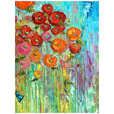 "Poppies #6 All-Weather 40"" High Indoor-Outdoor Wall Art"