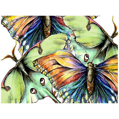 "Pastel Butterfly #2 Indoor-Outdoor 40""W Giclee Wall Art"