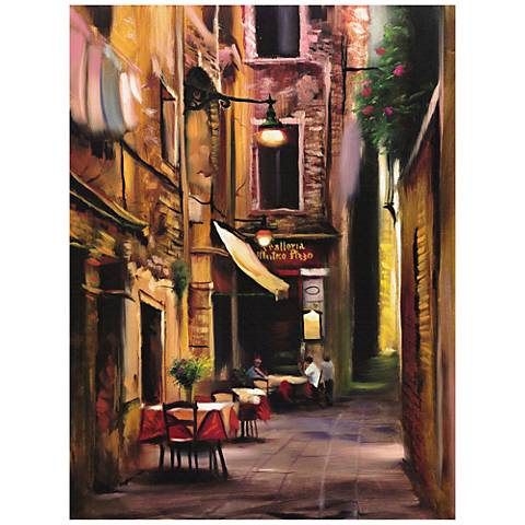 "Evening Cafe 40"" Wide All-Weather Indoor-Outdoor Wall Art"