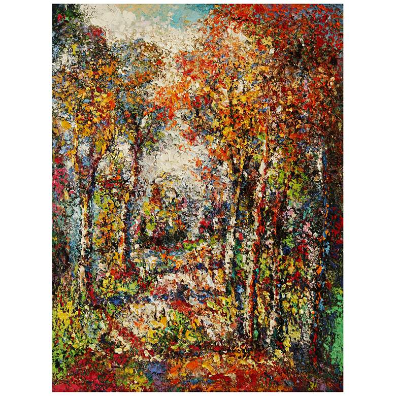 """Forest #1 All-Weather 40"""" High Indoor-Outdoor Wall Art"""