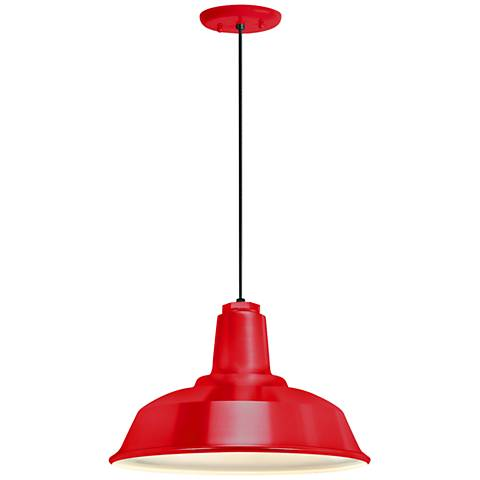 "RLM Heavy Duty 16"" Wide Red Outdoor Hanging Light"