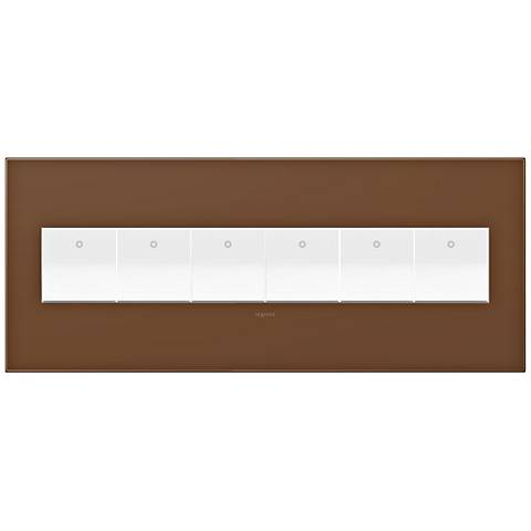 adorne Cappuccino 6-Gang Wall Plate w/ 6 Switches
