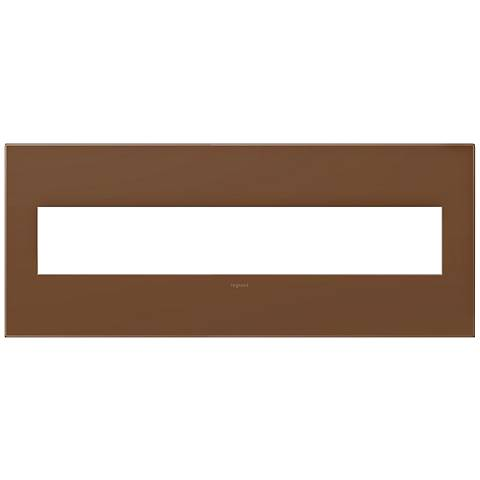 adorne® Cappuccino 6-Gang Snap-On Wall Plate