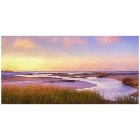 "Breaking Dawn 48"" Wide All-Season Indoor-Outdoor Wall Art"