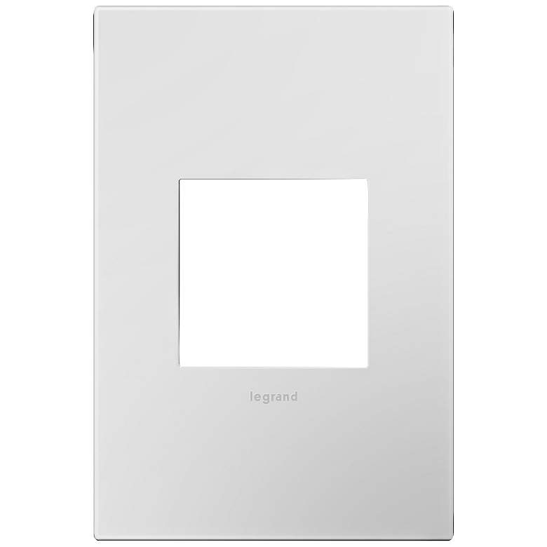 adorne® Powder White 1-Gang Snap-On Wall Plate