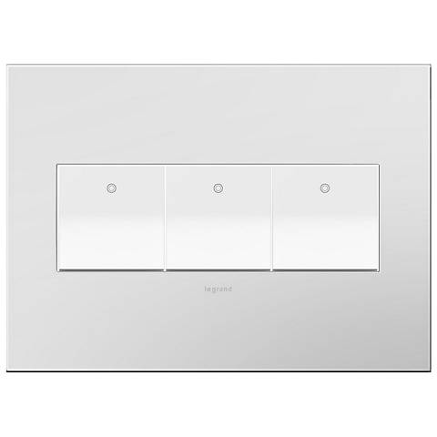Powder White 3-Gang Wall Plate with 3 x Paddle Switches