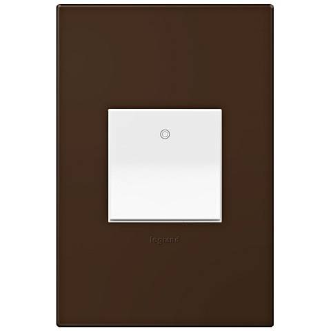 adorne Truffle 1-Gang Wall Plate w/ Switch