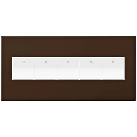 adorne Truffle 5-Gang Wall Plate w/ 5 Switches