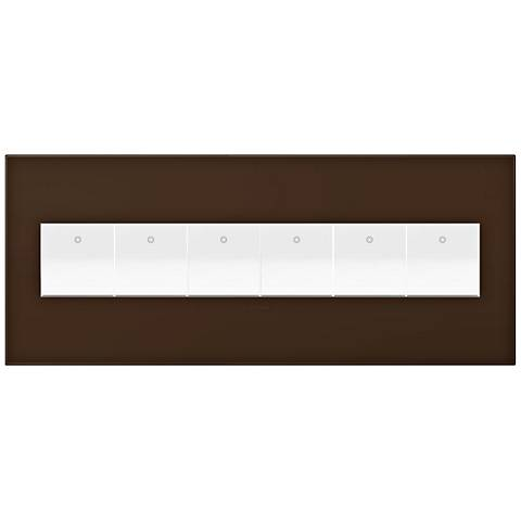 adorne Truffle 6-Gang Wall Plate w/ 6 Switches