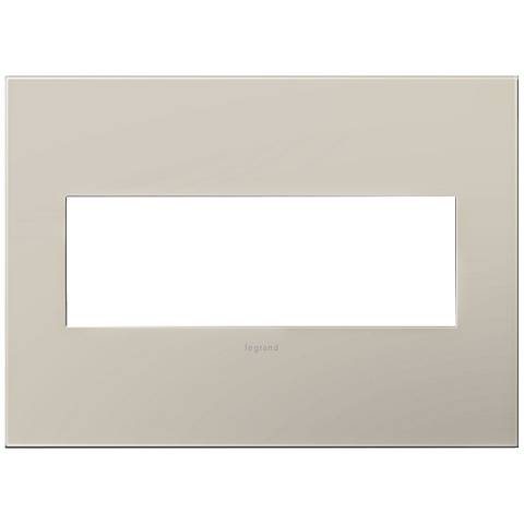 adorne® Greige 3-Gang Snap-On Wall Plate
