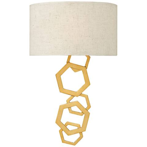 "Fredrick Ramond Moxie 19 3/4"" High Sunset Gold Wall Sconce"