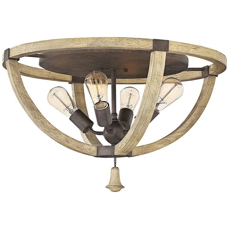 "Fredrick Ramond Middlefield 23 3/4""W Iron Rust Ceiling Light"