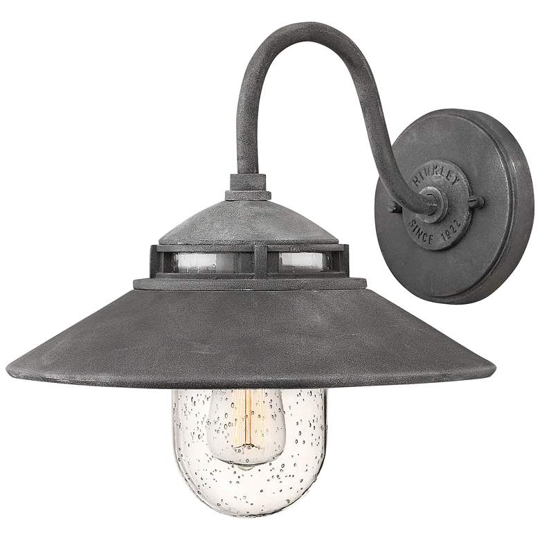 """Hinkley Atwell 11 3/4"""" High Aged Zinc Outdoor Wall Light"""