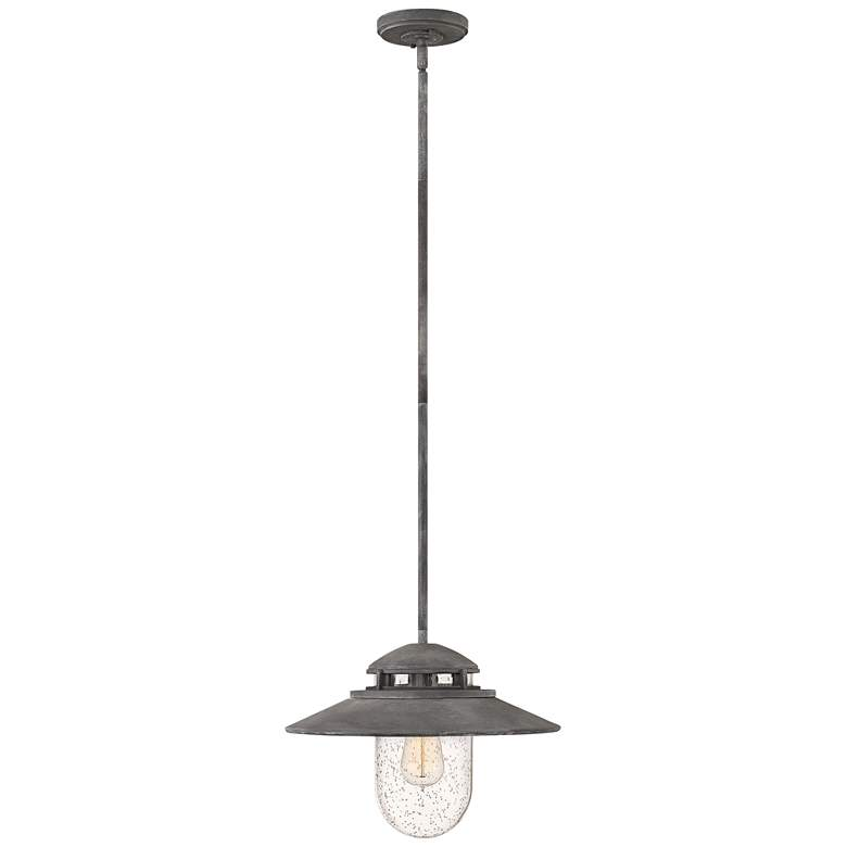 "Hinkley Atwell 11"" High Aged Zinc Outdoor Hanging"