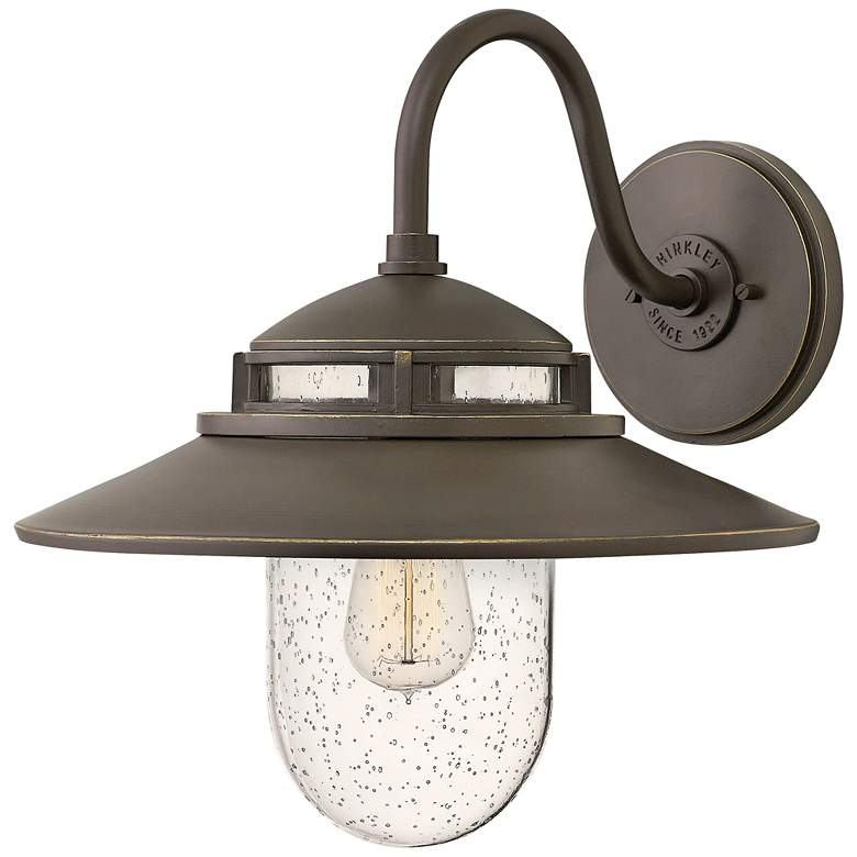 "Hinkley Atwell 15 1/4""H Oil Rubbed Bronze Outdoor Wall Light"